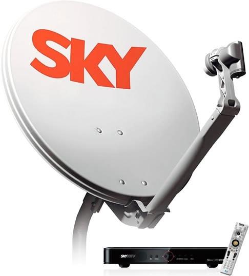 Antena e receptor sky